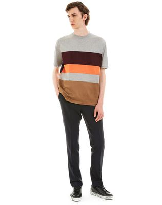 LANVIN T-SHIRT WITH COLORED INSETS Polos & T-Shirts U r
