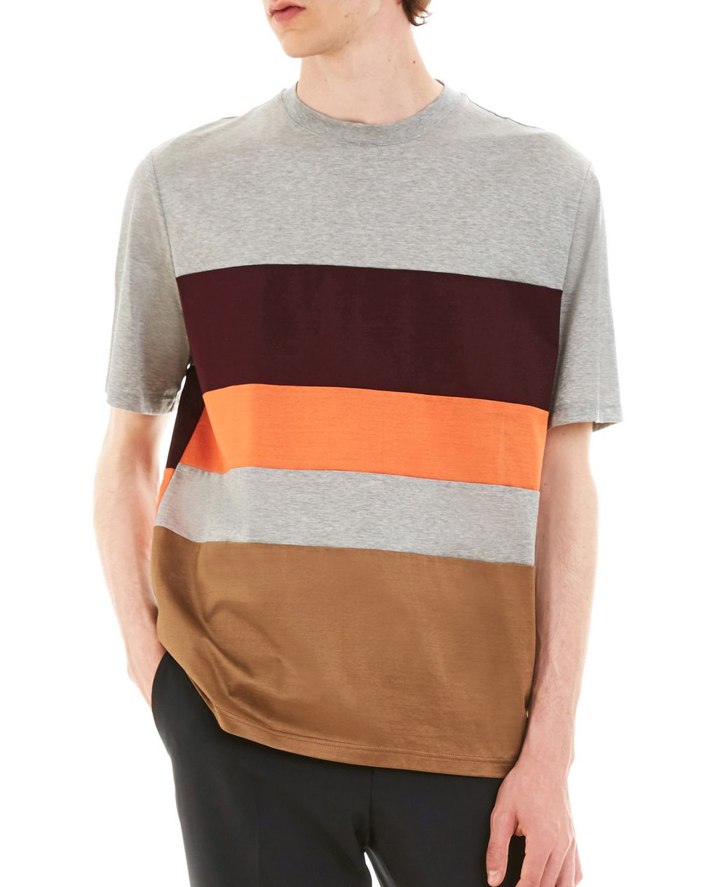 T-SHIRT WITH COLORED INSETS - Lanvin