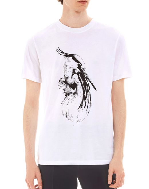 "lanvin ""crane"" slim-fit t-shirt men"