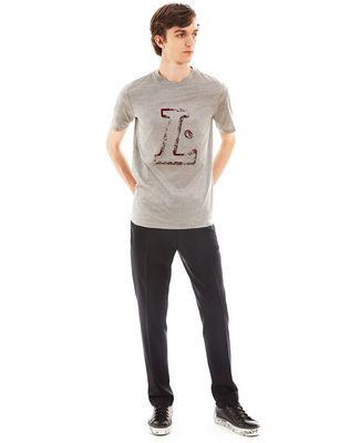 """L"" GREY SLIM-FIT T-SHIRT"
