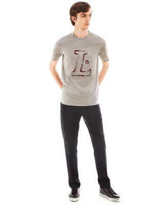 """LANVIN """"L"""" GREY SLIM-FIT T-SHIRT Polos & T-Shirts U r"""