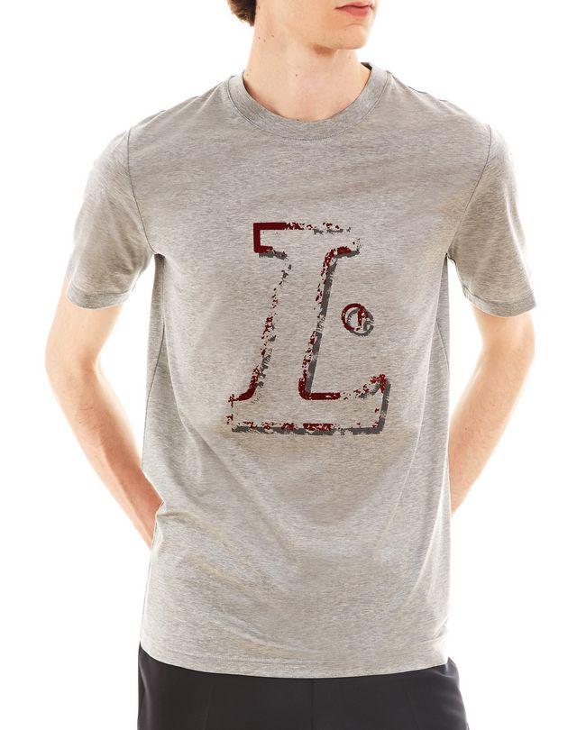 """LANVIN """"L"""" GREY SLIM-FIT T-SHIRT Polos & T-Shirts U f"""