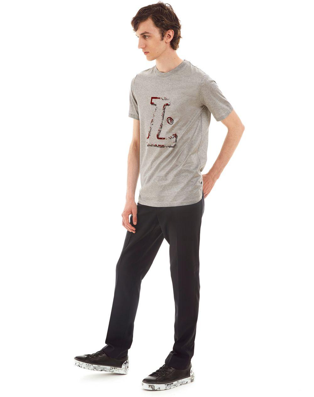 """""""L"""" GREY SLIM-FIT T-SHIRT - Lanvin"""
