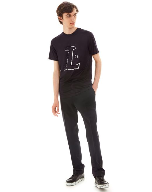 "lanvin ""l"" ink slim-fit t-shirt men"