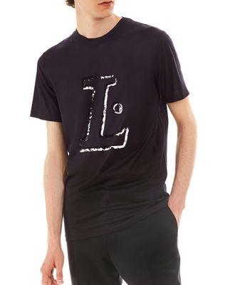 """LANVIN """"L"""" INK SLIM-FIT T-SHIRT Polos & T-Shirts U f"""