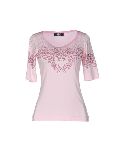 Фото - Женскую футболку VDP COLLECTION розового цвета