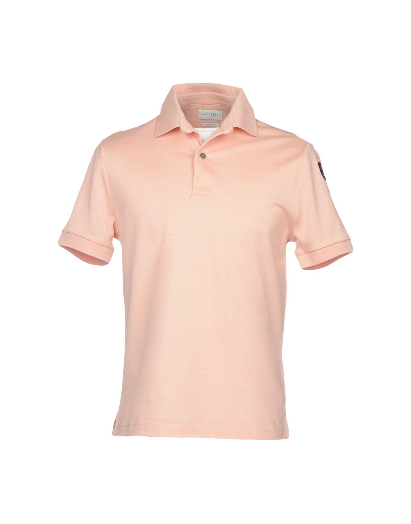 《セール開催中》BALLANTYNE メンズ ポロシャツ ピンク S 100% コットン