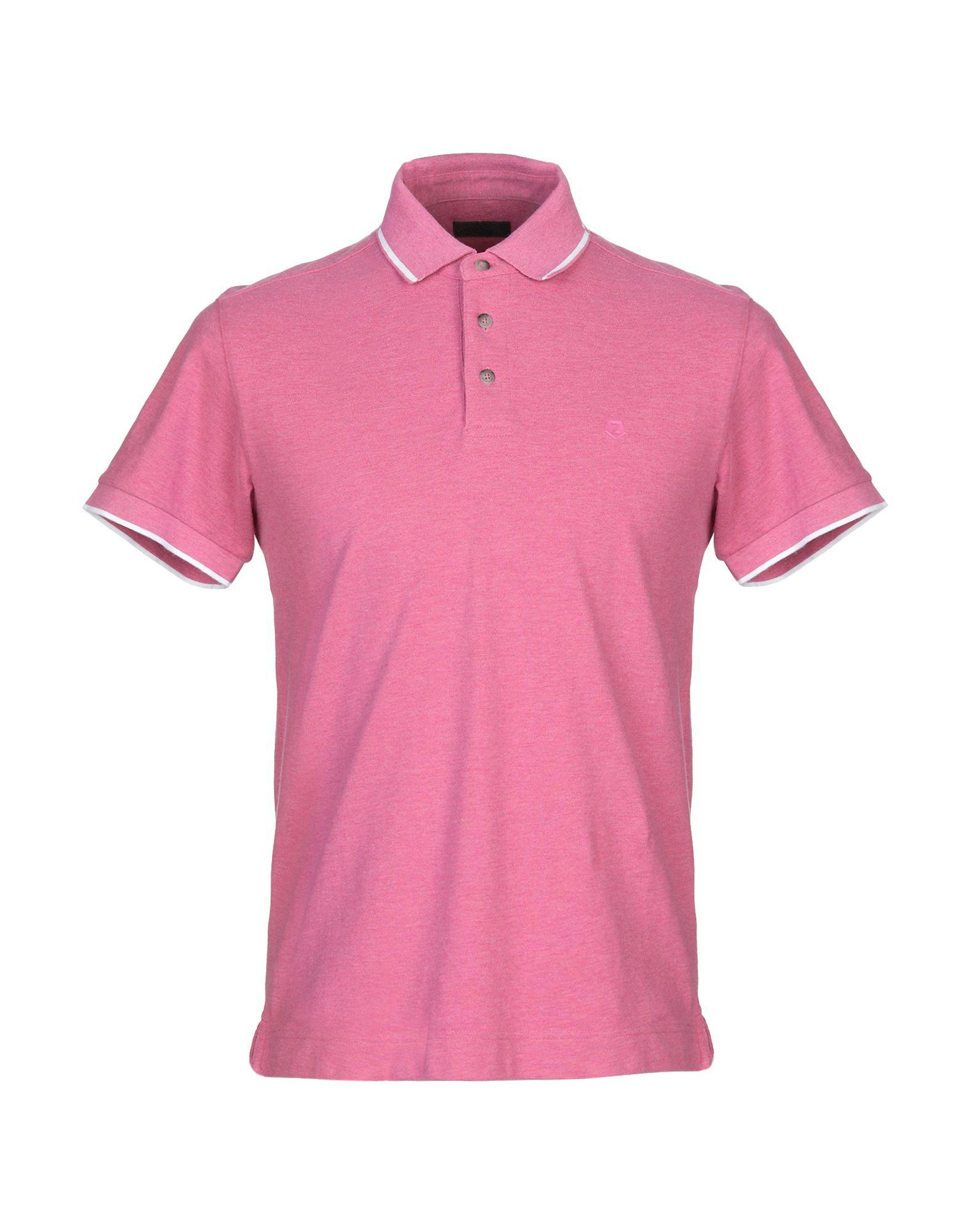 《送料無料》ZZEGNA メンズ ポロシャツ ライトパープル S コットン 100%