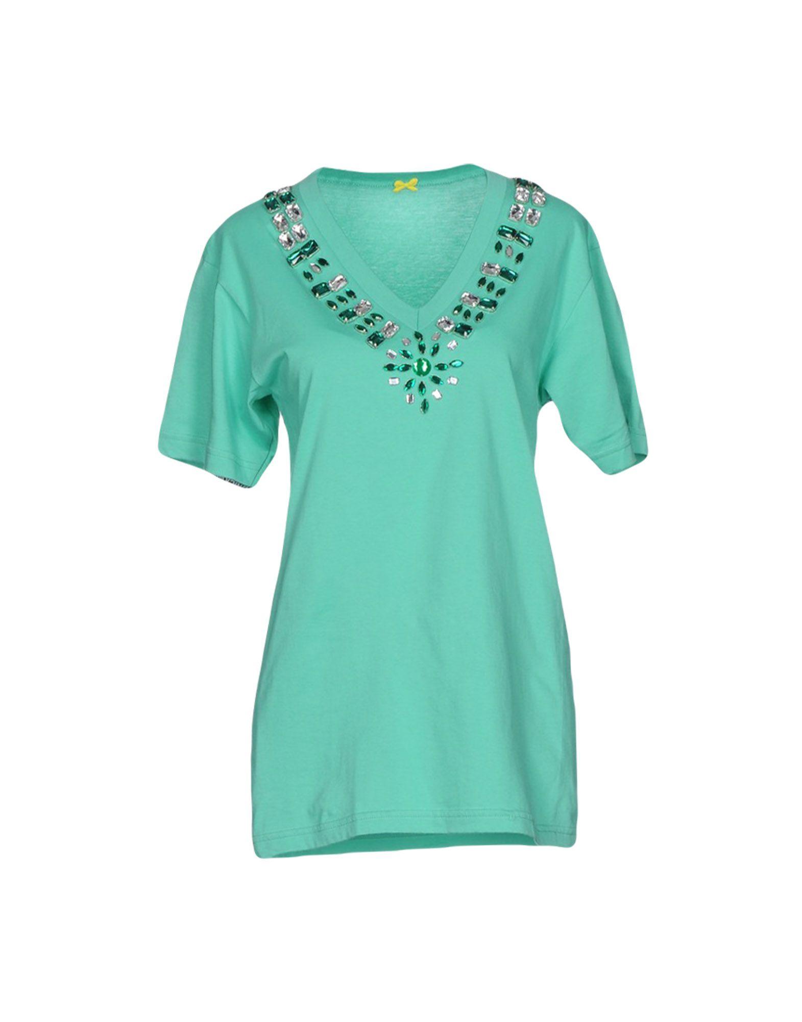 MONICA BIANCO Damen T-shirts Farbe Grün Größe 4