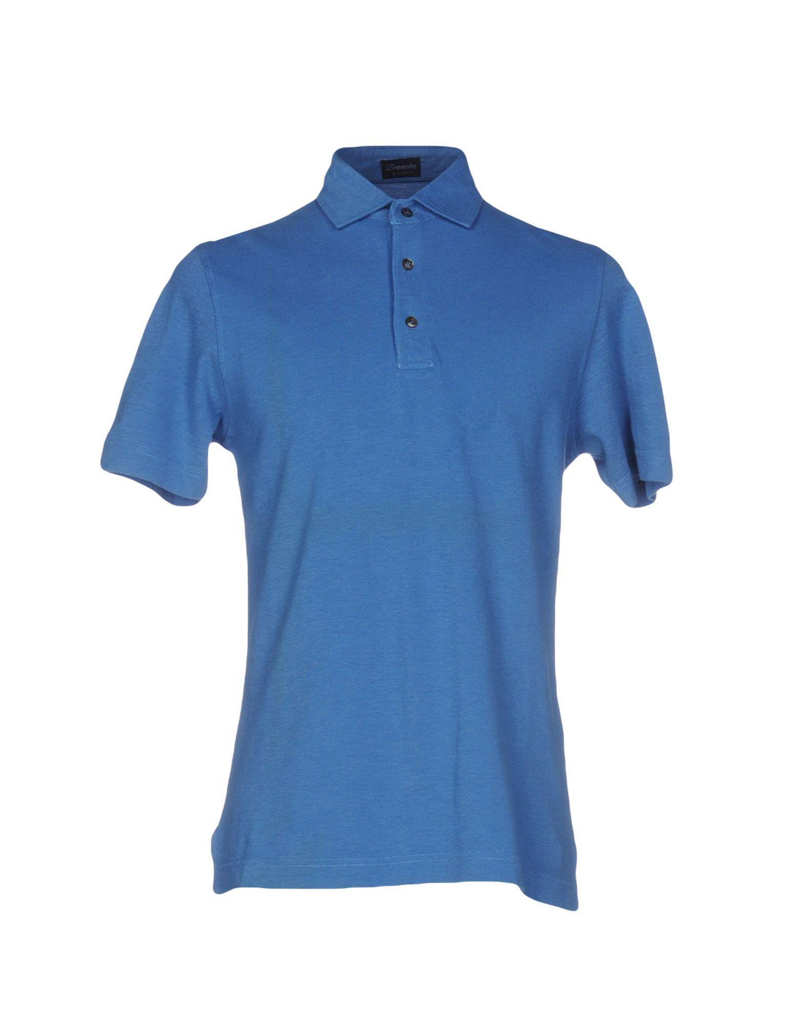 《送料無料》DRUMOHR メンズ ポロシャツ パステルブルー S コットン 100%