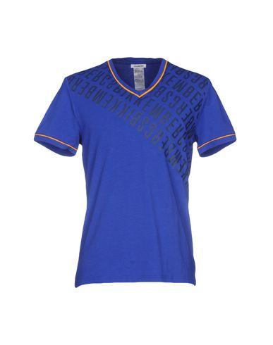 BIKKEMBERGS SWIMWEAR メンズ T シャツ ブルー XL コットン 92% / ポリウレタン 8%