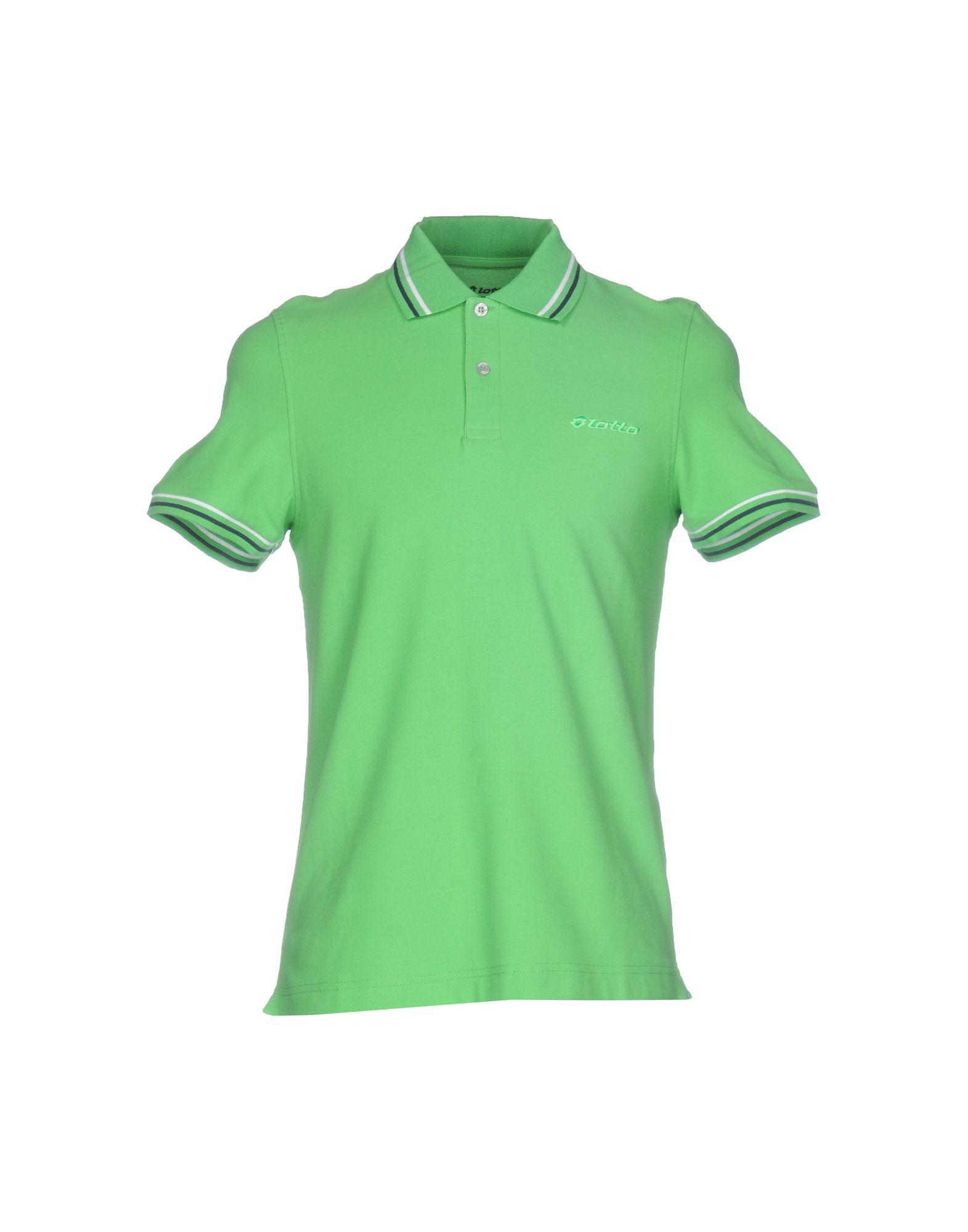 《送料無料》LOTTO メンズ ポロシャツ ライトグリーン S コットン 100%