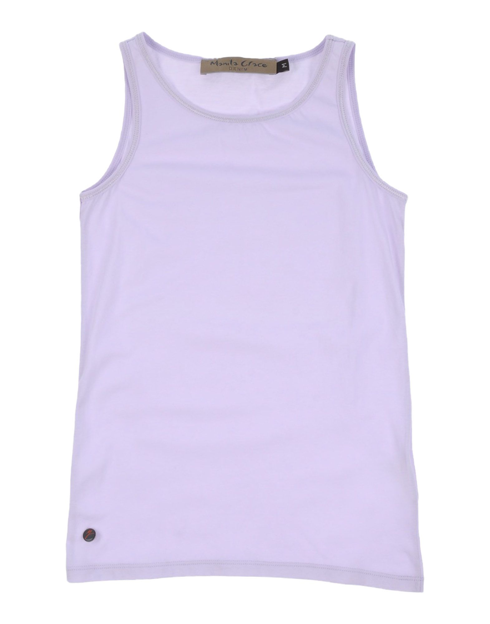 Manila Grace Denim Kids' T-shirts In Purple