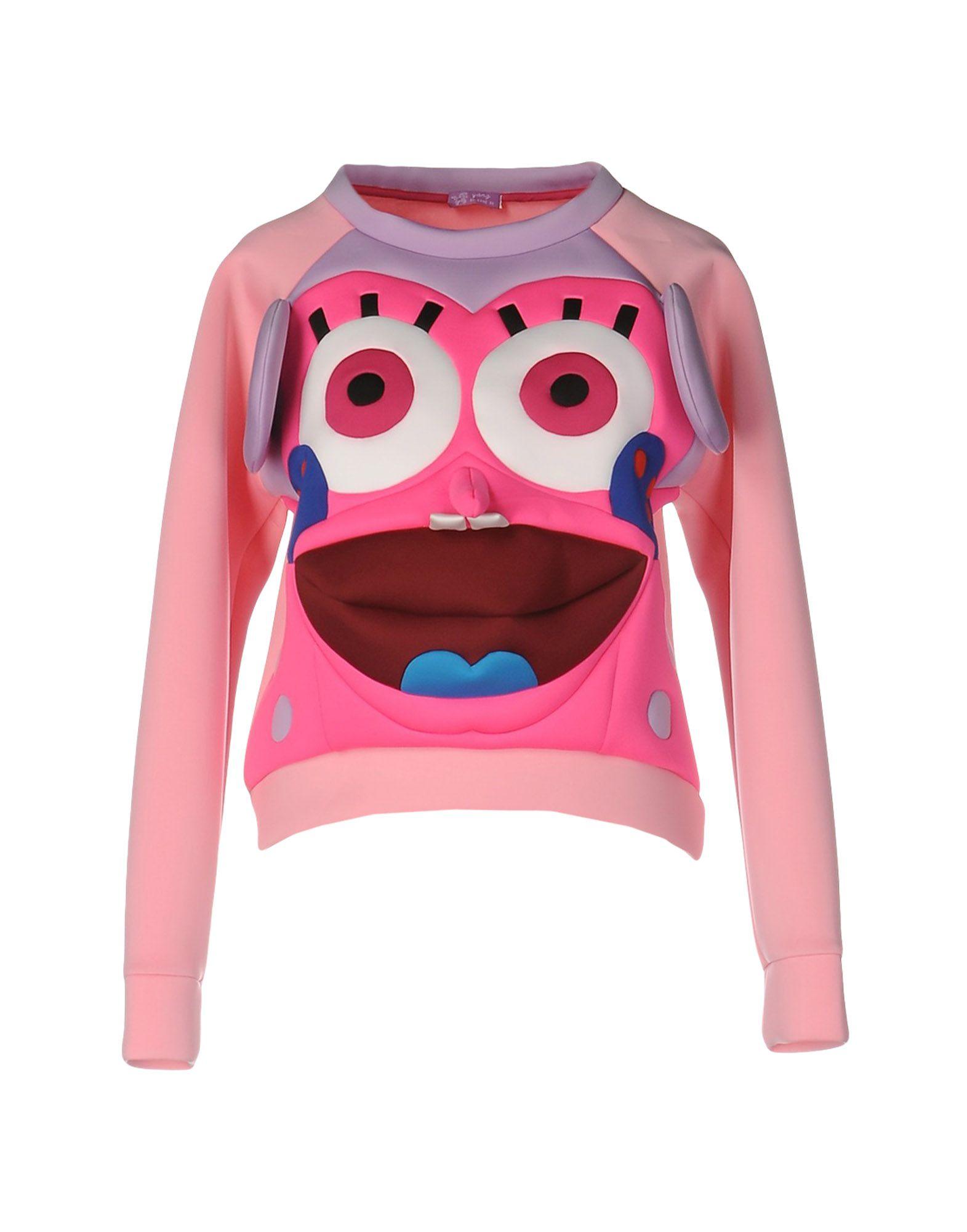 YANG DU Sweatshirt in Fuchsia