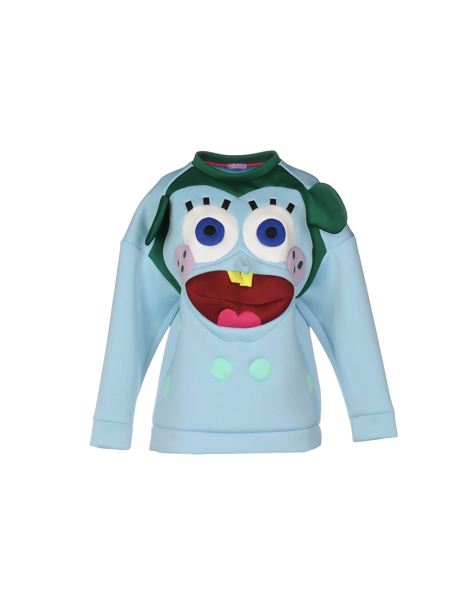 YANG DU Sweatshirt in Sky Blue