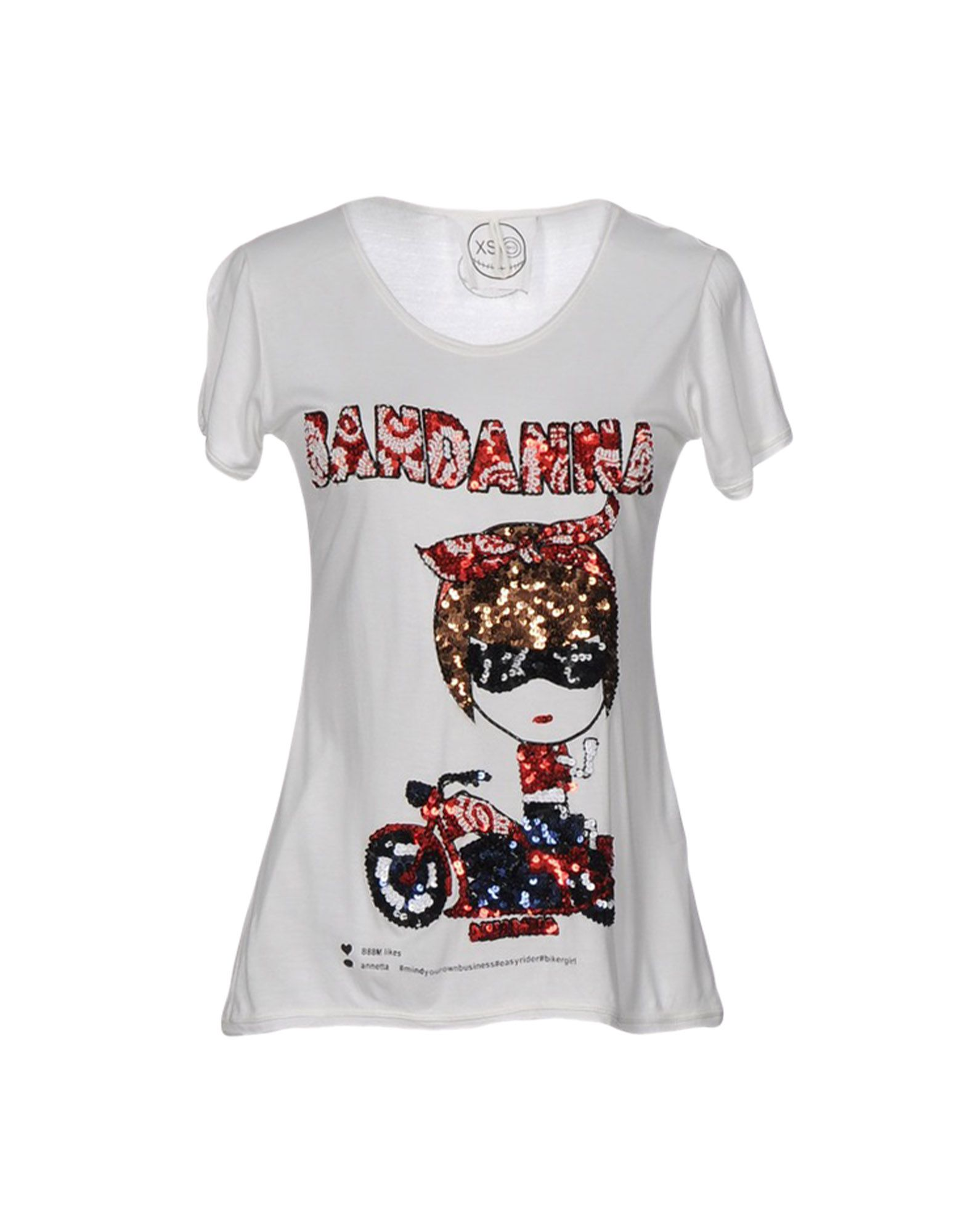 THE MUA MUA DOLLS Damen T-shirts Farbe Elfenbein Größe 3