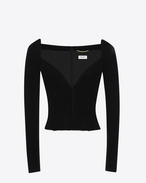 SAINT LAURENT Tops and Blouses D Black Sweetheart Bustier Top f