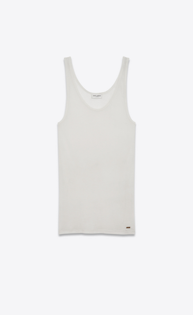 SAINT LAURENT T-Shirt and Jersey D tank top in ivory jersey v4