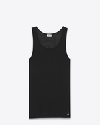tank top in black jersey