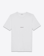 short sleeve saint laurent t-shirt in white cotton jersey