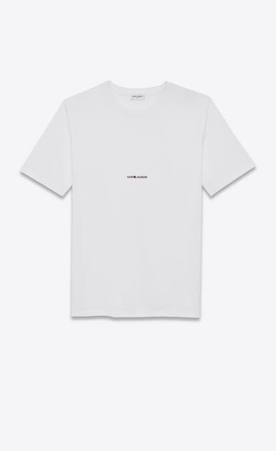 SAINT LAURENT T-Shirt and Jersey D short sleeve boyfriend saint laurent t-shirt in white cotton jersey v4