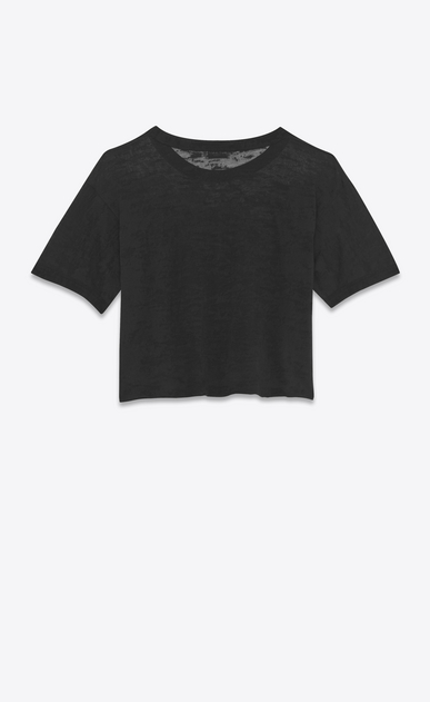 SAINT LAURENT T-Shirt and Jersey D short sleeve saint laurent université fitted ringer t-shirt in black cotton jersey b_V4