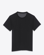 SAINT LAURENT T-Shirt and Jersey D Classic Black Short Sleeve Semi-Sheer T-Shirt f