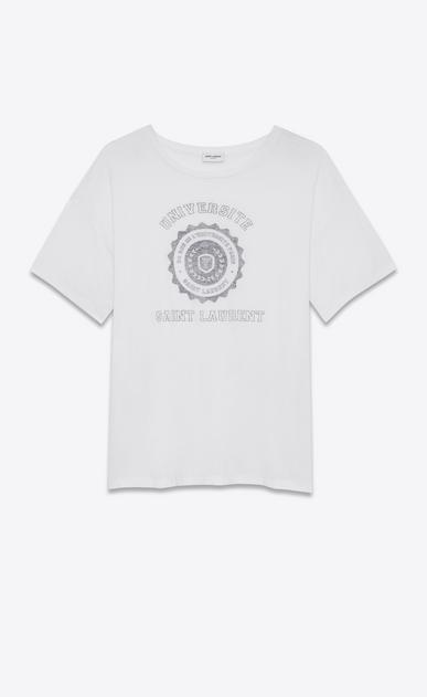 SAINT LAURENT T-Shirt and Jersey D short sleeve saint laurent université oversized t-shirt in white cotton jersey v4
