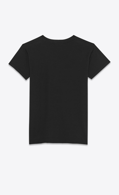 SAINT LAURENT T-Shirt and Jersey D short sleeve fitted t-shirt in black cotton jersey b_V4