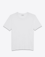 SAINT LAURENT T-Shirt and Jersey D short sleeve boyfriend t-shirt in white cotton jersey f