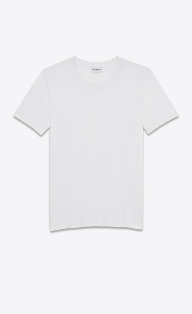 SAINT LAURENT T-Shirt and Jersey D short sleeve boyfriend t-shirt in white cotton jersey v4