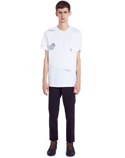 "lanvin ""arrow"" t-shirt  men"
