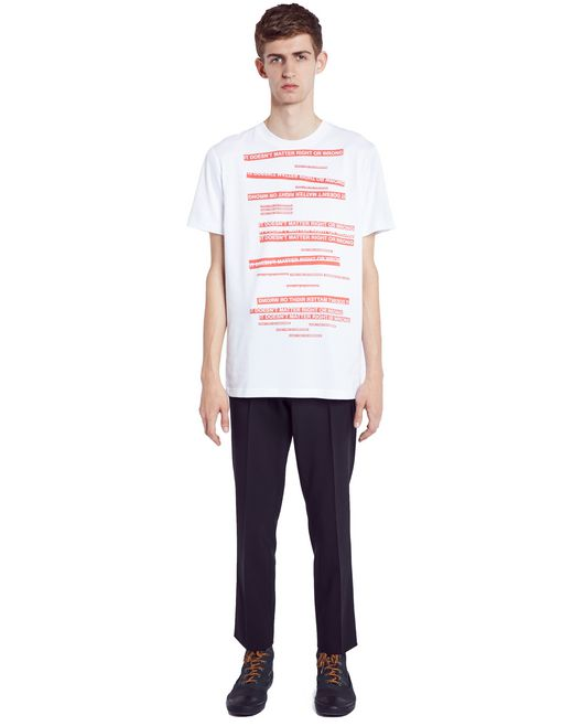 "lanvin white ""doesn't matter"" t-shirt men"