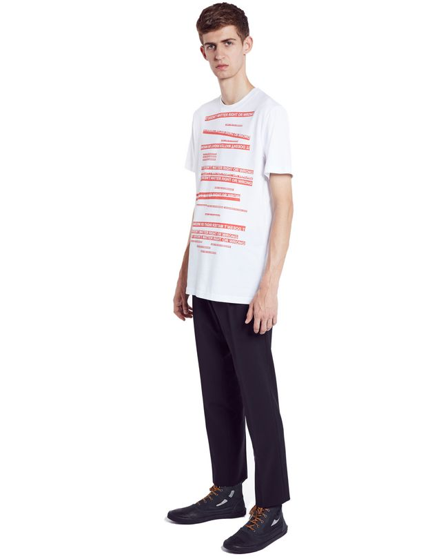 "LANVIN WHITE ""DOESN'T MATTER"" T-SHIRT Polos & T-Shirts U e"