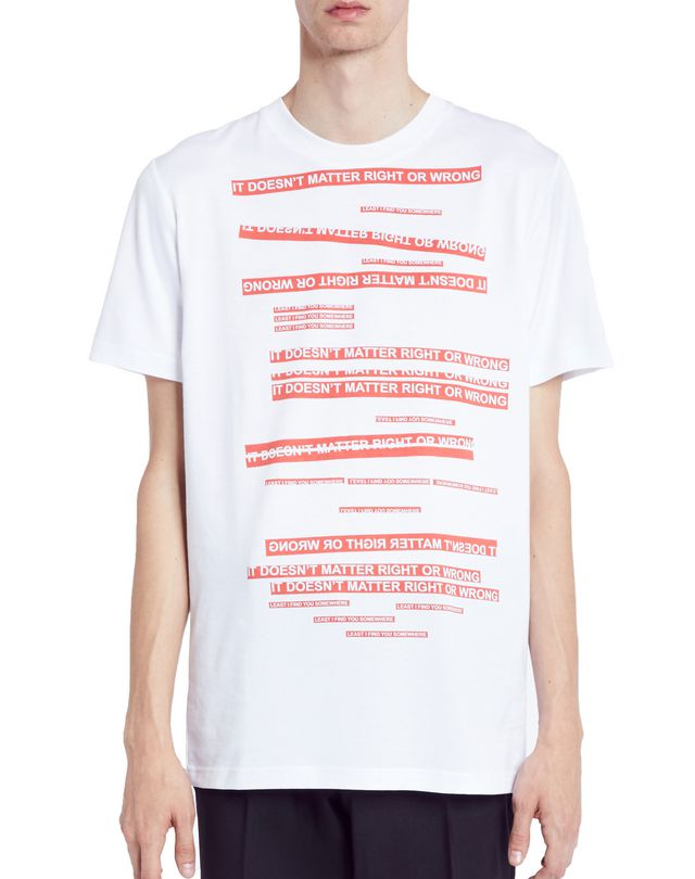 "LANVIN WHITE ""DOESN'T MATTER"" T-SHIRT Polos & T-Shirts U f"