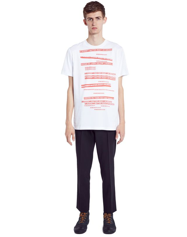 "LANVIN WHITE ""DOESN'T MATTER"" T-SHIRT Polos & T-Shirts U r"