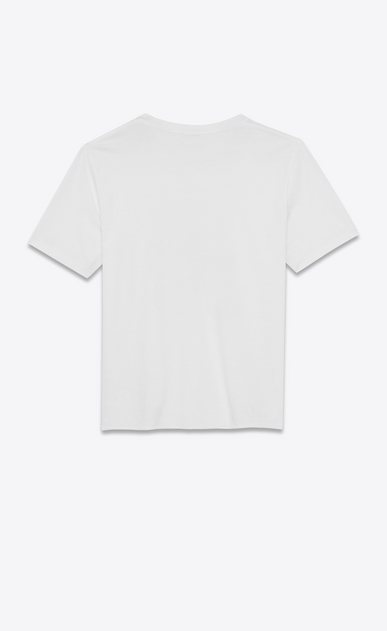SAINT LAURENT T-Shirt and Jersey Man short sleeve saint laurent université t-shirt in white cotton jersey b_V4
