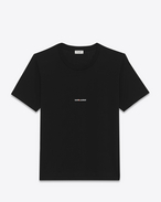 SAINT LAURENT T-Shirt and Jersey U black short sleeve saint laurent t-shirt in cotton jersey f