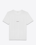 SAINT LAURENT T-Shirt and Jersey U white short sleeve saint laurent t-shirt in cotton jersey f