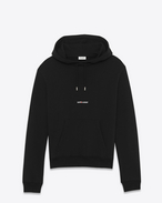 SAINT LAURENT Tops sportswear U Sweat court à capuche imprimé SAINT LAURENT noir f