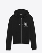 SAINT LAURENT Sportswear Tops U Black SAINT LAURENT UNIVERSITÉ Hoodie f