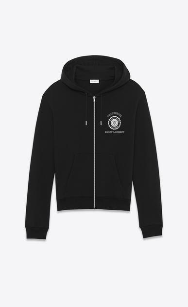 SAINT LAURENT Sportswear Tops U saint laurent université hoodie in black french terrycloth v4