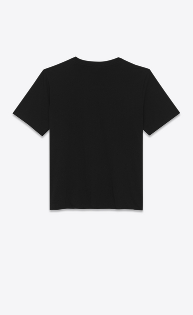 SAINT LAURENT T-Shirt and Jersey U short sleeve saint laurent université t-shirt in black cotton jersey b_V4