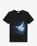 SAINT LAURENT T-Shirt and Jersey U moonlight printed short sleeve t-shirt in black cotton jersey f