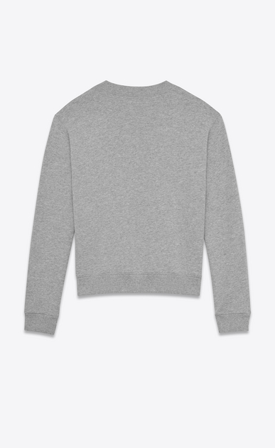SAINT LAURENT Sportswear Tops U saint laurent université sweatshirt in heather grey french terrycloth b_V4