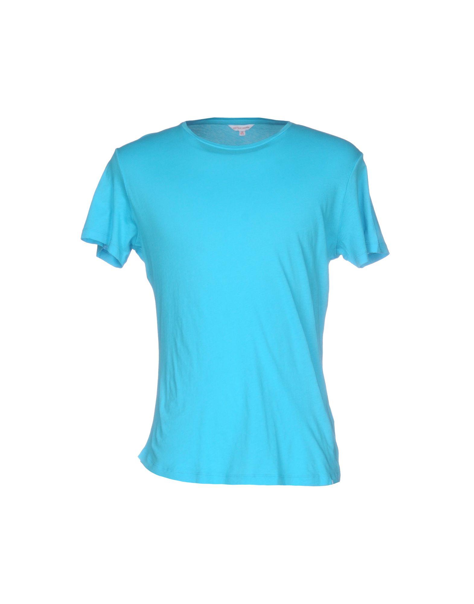 《送料無料》ORLEBAR BROWN メンズ T シャツ ターコイズブルー M コットン 100%