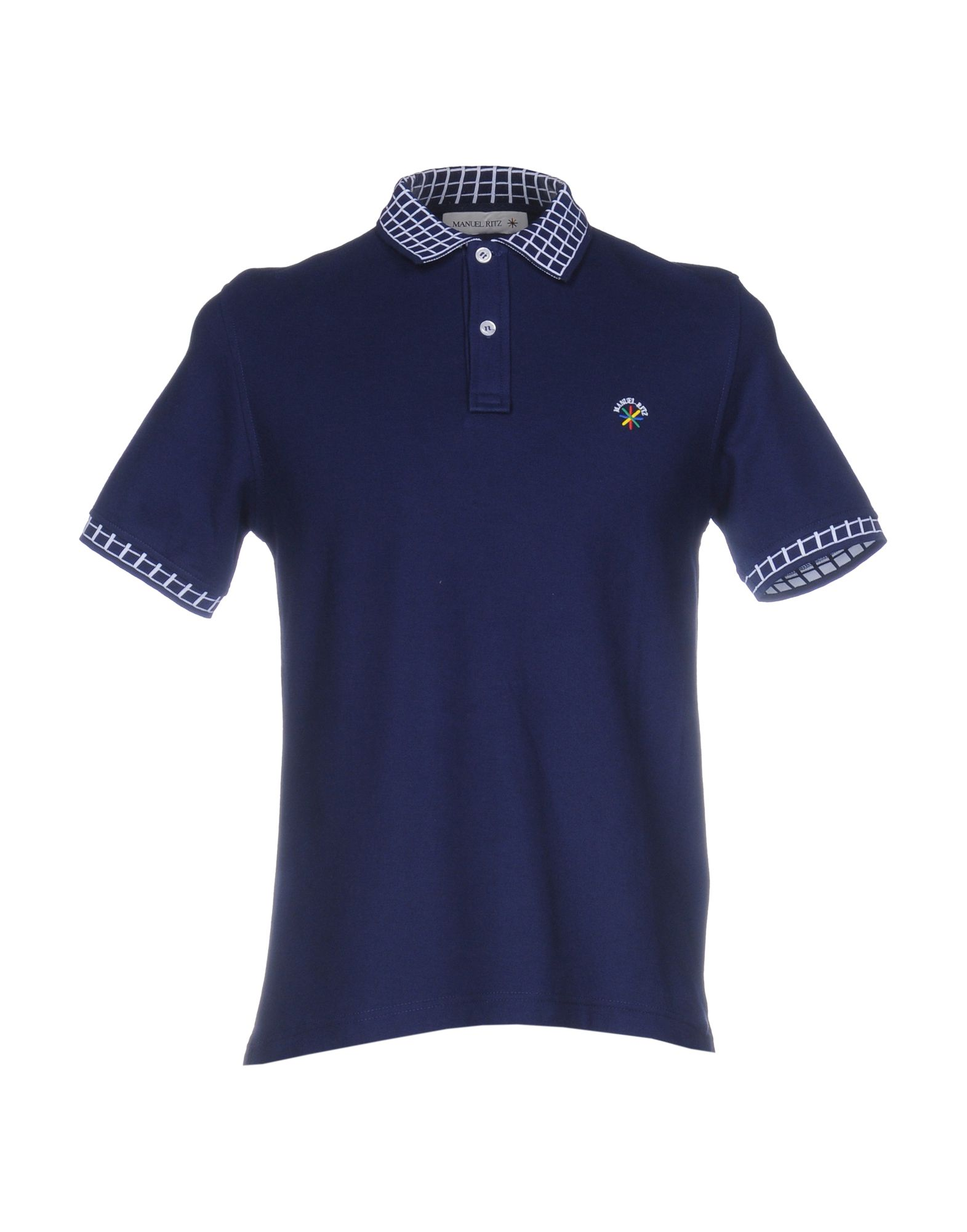 《送料無料》MANUEL RITZ メンズ ポロシャツ ダークブルー XL コットン 100%