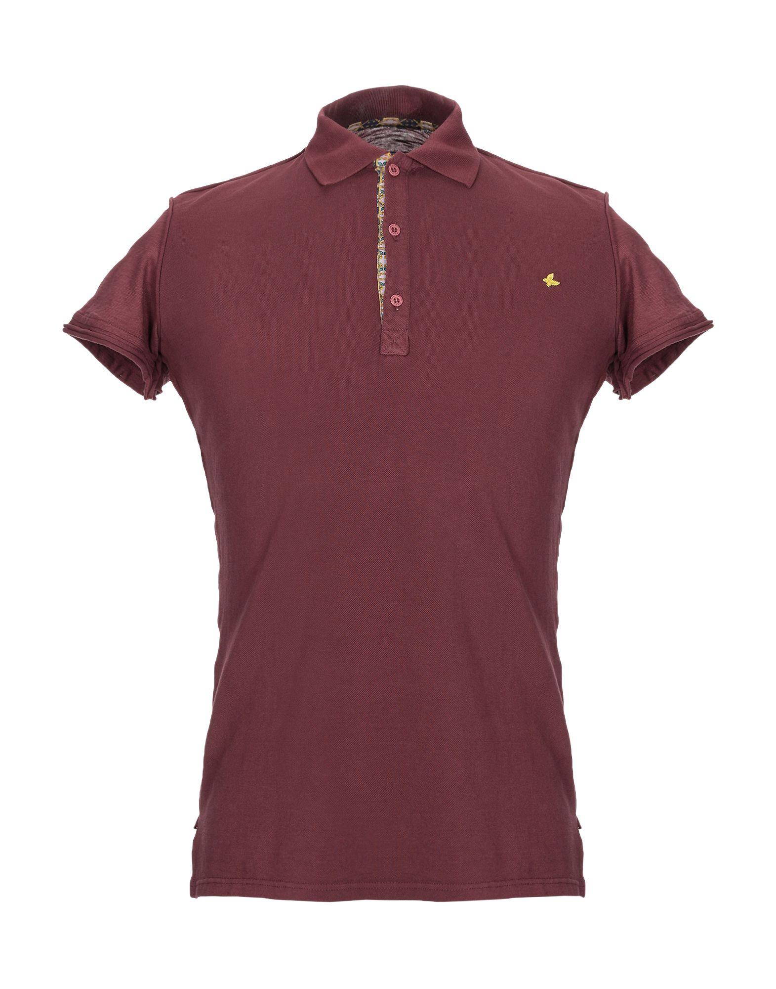《送料無料》FEF? GLAMOUR POCHETTE メンズ ポロシャツ ボルドー S コットン 100%