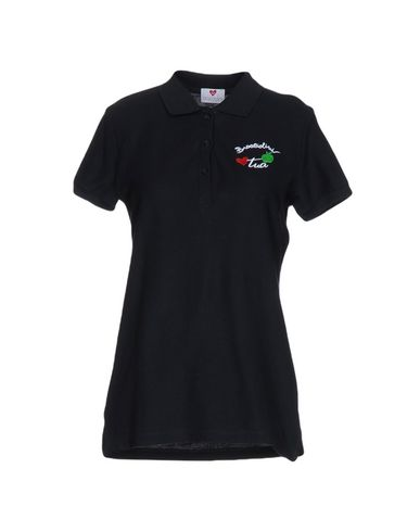 54%OFF <YOOX> BRACCIALINI MARE レディース ポロシャツ ブラック XL コットン 100%画像