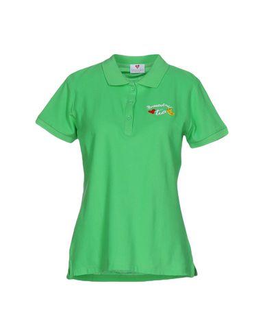 54%OFF <YOOX> BRACCIALINI MARE レディース ポロシャツ グリーン XL コットン 100%画像